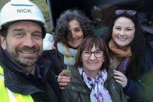 nick knowles and the diy sos team have arrived in cornwall