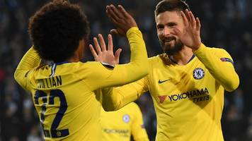 Malmo 1-2 Chelsea in Europa League last 32: Blues claim narrow victory in Sweden