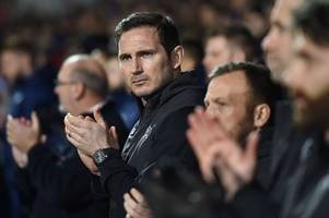 frank lampard explains derby county team selection against ipswich town