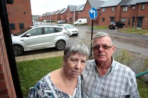 couple's anger as sign sends cars 'straight into their front room'