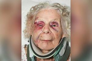 the drug addict who killed a 100-year-old woman and stole her handbag has now been sentenced