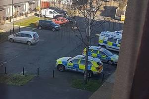 picture shows rainham police response as hunt for gunman continues