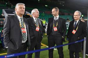 Celtic roll out the red carpet for UEFA chief Aleksander Ceferin amid calls for Champions League reform