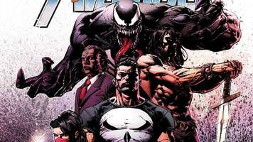 conan the barbarian teams up with wolverine, venom, and the punisher in savage avengers