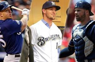 counsell: pina edges kratz for brewers backup catcher as camp begins