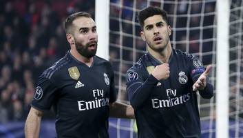 santiago solari claims ajax 'played at the limit of the rules' after marco asensio seals late win