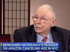 charlie munger on hq2: 'driving the rich people out is pretty dumb if you're a state or a city' (amzn)