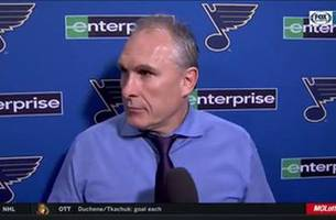 Berube finding out Blues are in third place: 'Oh. Okay. Well, that's good.'