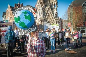 children explain why they missed school to join climate change protest in leicester