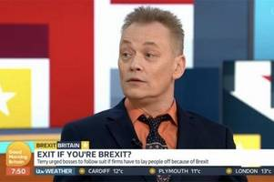 terry christian and wetherspoons' tim martin embroiled in furious gmb row over brexit