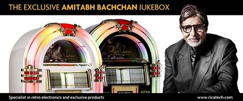 ricatech launches amitabh bachchan jukebox website on his 50th anniversary in the bollywood industry