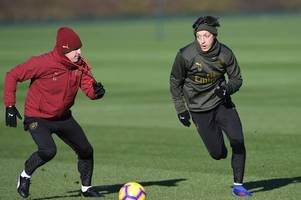 mesut ozil drops social media hint over his relationship with arsenal boss unai emery