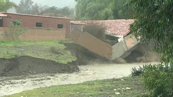 california mudslides: buildings have collapsed after severe weather