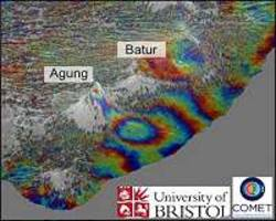 satellite shows interconnected system that caused bali volcano to erupt
