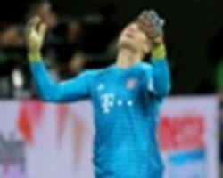 'you can't do that' - neuer annoyed with bayern munich's defensive 'madness'