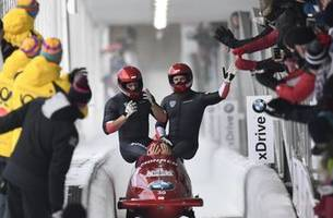 kripps wins a world cup four-man bobsled race in lake placid