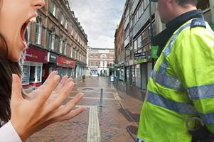 teenager assaults police officer in derby city centre
