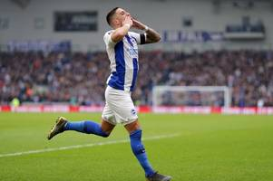 brighton & hove albion 2-0 derby county - how the first half unfolded
