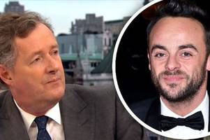Why Ant McPartlin has hit out at Piers Morgan