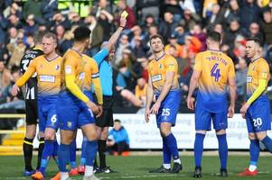 david flitcroft believes atmosphere forced mansfield into playing with 'fear and anxiety' against notts county