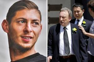 Cardiff City boss Ken Choo and manager Neil Warnock attend funeral of Emiliano Sala in Argentina