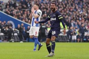 'sign him up!' - ashley cole has chelsea fans talking after goal for derby in fa cup at brighton