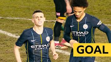 FA Cup: Phil Foden scores Manchester City's second against Newport