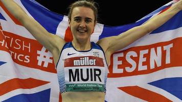 muir breaks mile record by five seconds