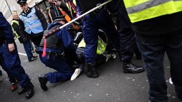 six pro-brexit protesters charged after london 'yellow vest' march