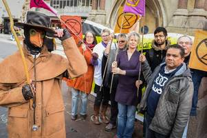 the climate change protester from extinction rebellion branch in leicester who is 'happy to go to prison' - if that's what it takes