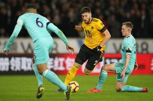 matt doherty injury: latest on wolves star after he was forced off against bristol city