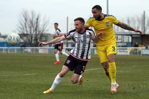 bath city beaten at concord rangers as alex wall's early double does the damage