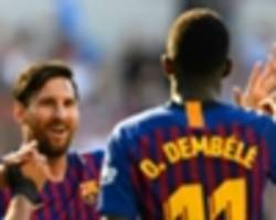 messi's trump card: why dembele is key to barcelona winning the champions league