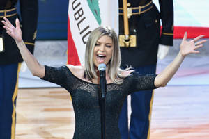 fergie's unique national anthem one year ago today is remembered not-so fondly
