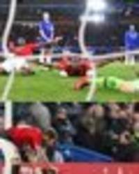 paul pogba: best pics of man utd star's flying celebration after fa cup goal at chelsea