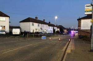 police arrest pedestrian hit by a car in ware on suspicion of carrying a knife