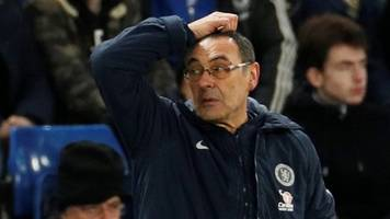 chelsea boss sarri 'done' after fa cup exit - sutton