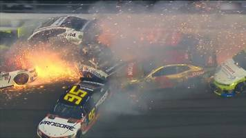 daytona 500: giant crash triggered by paul menard causing 'carnage everywhere'