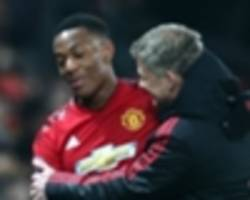 'martial is back to a very, very good level' - man utd resurgence welcomed by france boss deschamps