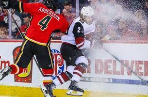 garland, weal score but flames overcome to burn coyotes