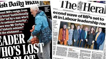 scotland's papers: second wave of labour mps set to quit party