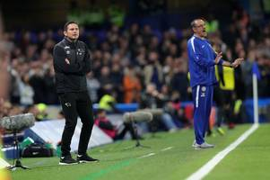 derby county boss frank lampard 'identified by chelsea as potential replacement for maurizio sarri'