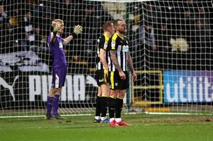 notts county miss chance to climb out of league two relegation zone with heavy newport defeat