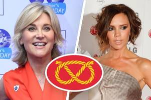 did victoria beckham take inspiration from staffordshire for her new fashion collection? stoke-on-trent-born anthea turner thinks so!