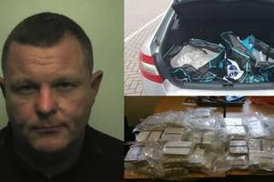 Taxi driver stopped on M6 with £4 million worth of heroin in car boot