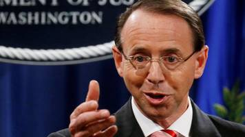 Ex-Russia probe overseer Rod Rosenstein 'to step down by March'