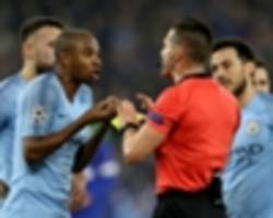 blow for city as fernandinho and otamendi suspended for schalke second leg