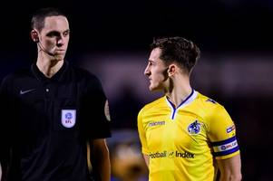 portsmouth and the fa issue statements after bottle thrown at bristol rovers captain tom lockyer following alleged punch