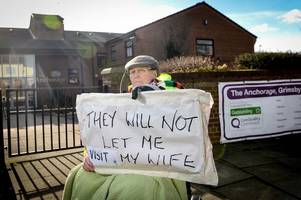 Man, 89, protests outside Grimsby care home after being 'banned from seeing wife of 70 years'