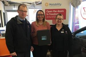 top motability award for w livingstone ltd